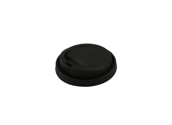 CPLA lid black for coffee cup 8 oz / 240 ml