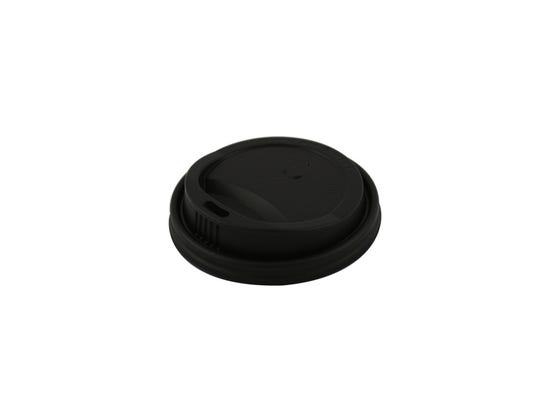 CPLA lid black for coffee cup 10-12 oz / 300-360 ml
