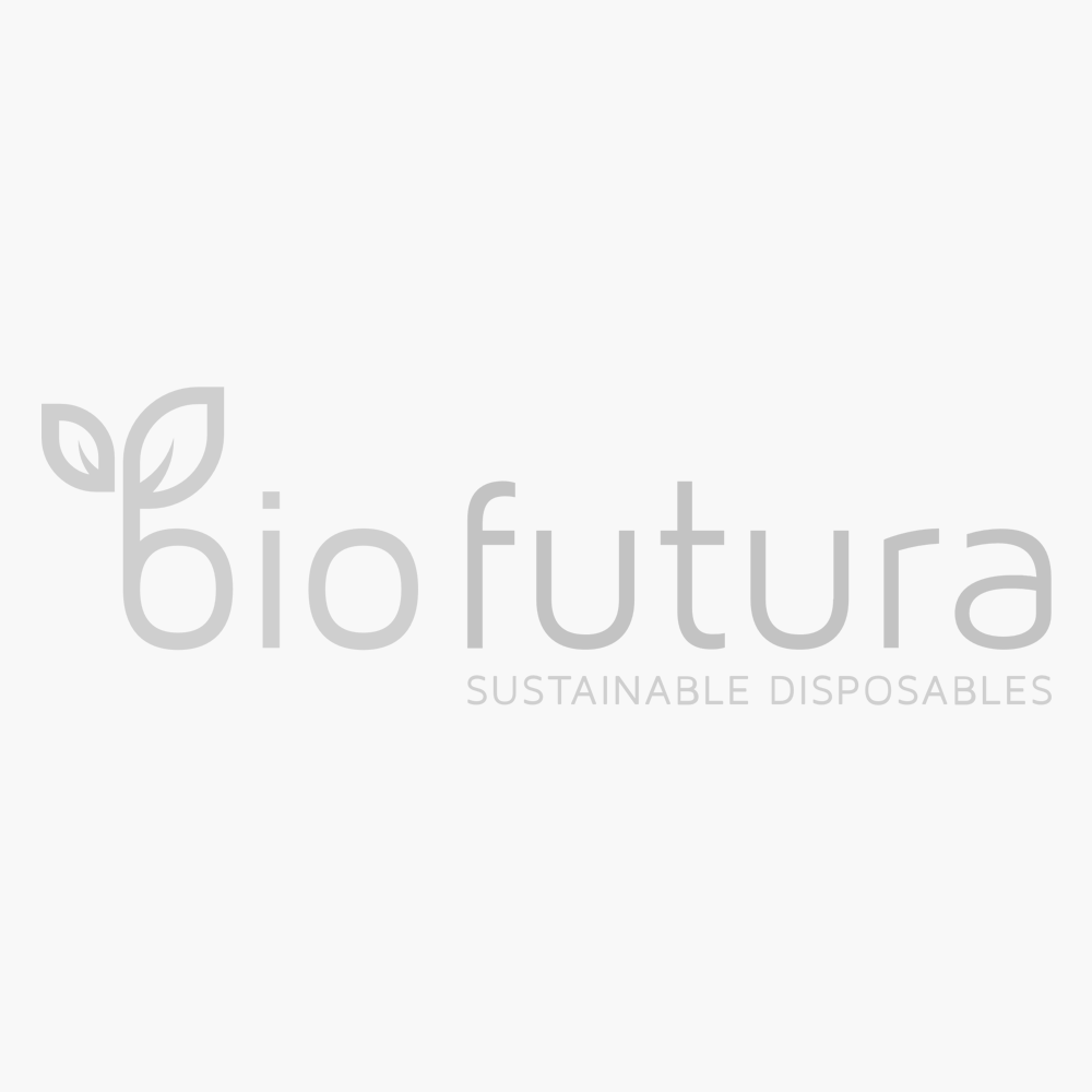 Platte deksel met rietjesgat voor BioWare beker 250 ml (78mm) - pak 100 stuks