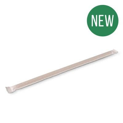 Bamboo Straw 23 cm Wrapped - New!