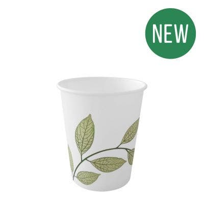 Coffee cup 7 oz / 210 ml - Green Leaves - New