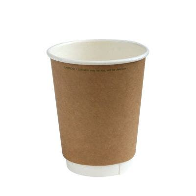 Kraft coffee cup 12 oz / 360 ml double wall