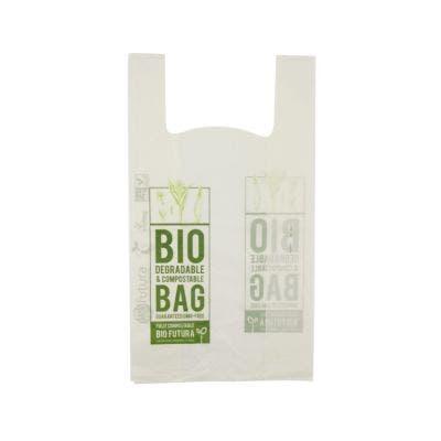 Bioplastic t-shirt bag M