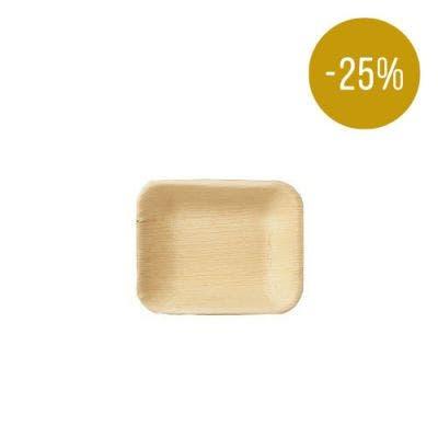 Thali Premium palm leaf plate rectangular 16 x 13 cm - SALE! -25%
