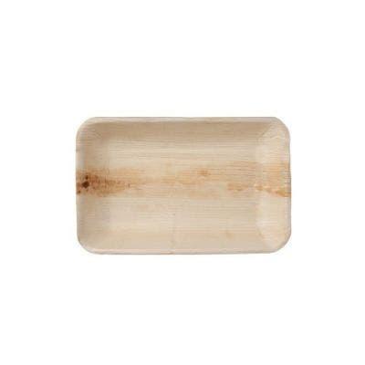 Thali Premium palm leaf plate rectangular 25 x 16 cm