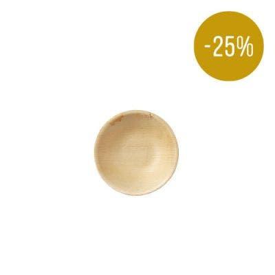 Thali Premium palm leaf plate round 13 cm - SALE! -25%