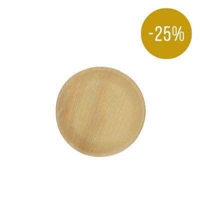 Thali Premium palm leaf plate round 18 cm - SALE! -25%