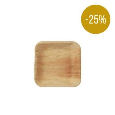 Thali Premium palm leaf square 17 cm - SALE! -25%
