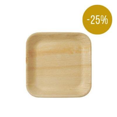 Thali Premium palm leaf square 24 cm - SALE! -25%