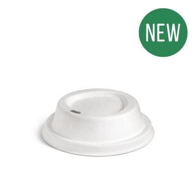 Sugarcane Lid for Coffee Cup 10 & 12 oz / 300 & 360 ml - New