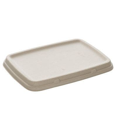 Sugarcane Lid for Menu Boxes Unbleached 800 & 1050 ml
