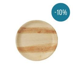 Thali Premium rund tallerken af palmeblad 25 cm