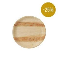 Thali Premium palm leaf plate round 25 cm - SALE! -25%