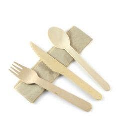 FSC® wooden cutlery set