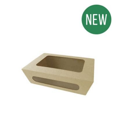 Bamboo salad box with window M - New