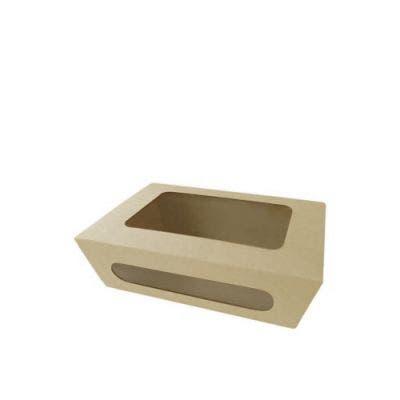 Bamboo salad box with window M