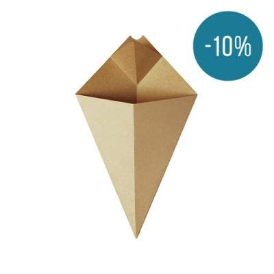 Kraft chip cone with sauce compartment - Promo 10%