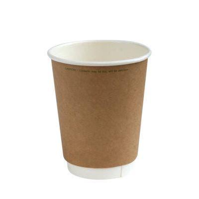 Kraft coffee cup 12 oz / 360 ml double wall