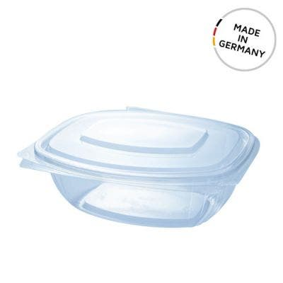 PLA clamshell 34 oz / 1000 ml - Made in Germany