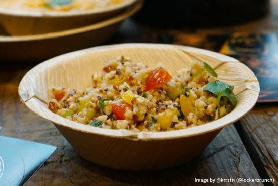 Thali Premium palm leaf plate round 13 cm - Salad
