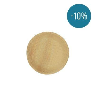 Thali Premium palm leaf plate round 18 cm - Promo 10%