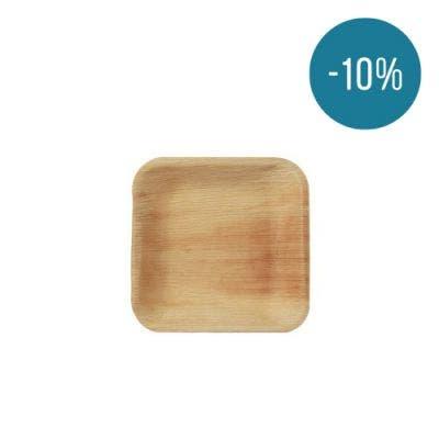 Thali Premium palm leaf square 17 cm - Promo 10%