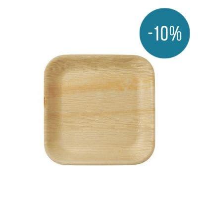 Thali Premium palm leaf square 24 cm - Promo 10%