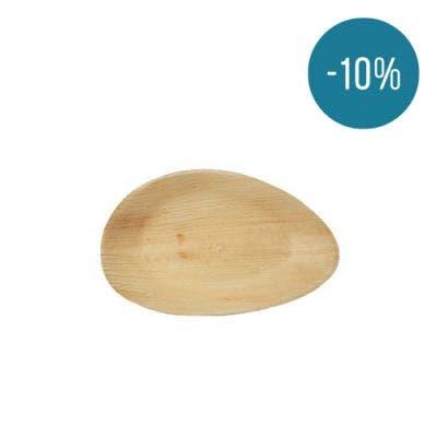 Thali Premium palm leaf oval 19 cm - Promo 10%