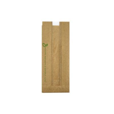 PEFC paper sandwich bag with PLA window
