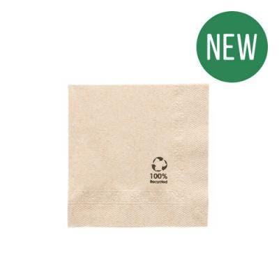 FSC® Cocktail napkins 2-ply 10 x 10 cm unbleached - New