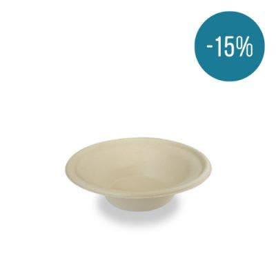 Sugarcane bowl brown 11.5 oz / 340 ml - Promo 15%