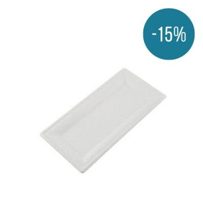 Sugarcane plate rectangular 26 x 13 cm - Promo 15%