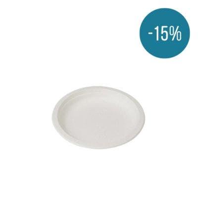 Sugarcane plate round 23 cm - Promo 15%