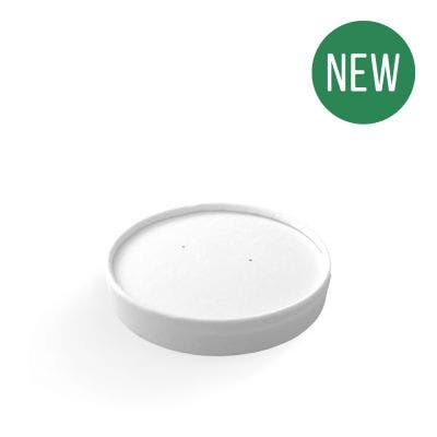 White Paper Lid for Food Containers 12-32 oz / 360-950 ml - New
