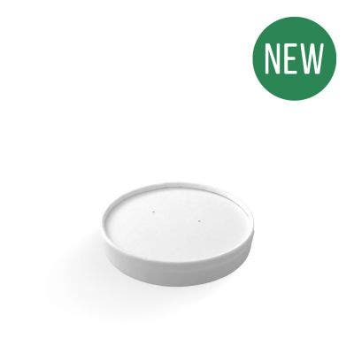 White Paper Lid for Food Containers 6-10 oz / 160-300 ml