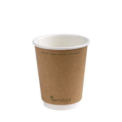 Kraft Coffee Cup 8 Oz 240 Ml Double Wall