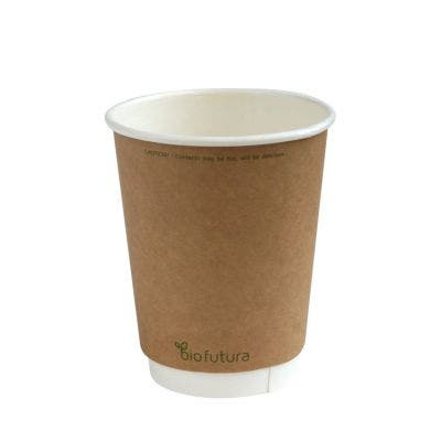 Kraft Coffee Cup 12 Oz 360 Ml Double Wall