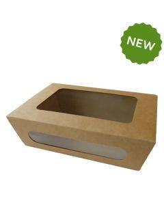 Boîte en carton L avec fenêtre
