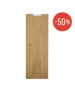 FSC® paper bread bag with PLA window