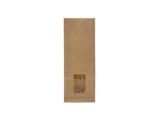 Kraft bloomer bag with PLA window S