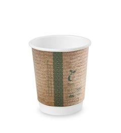 Kraft coffee cup 8 oz / 240 ml double wall
