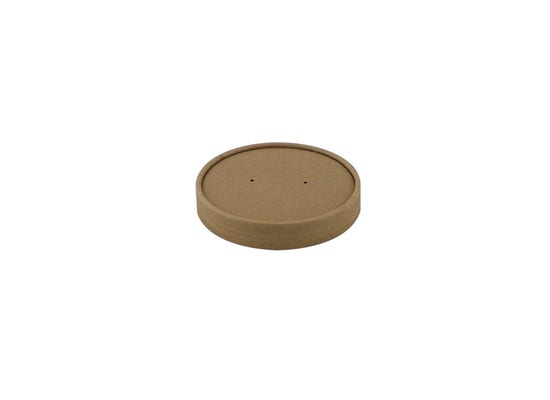 Kraft paper lid for 16 oz / 500 ml cup