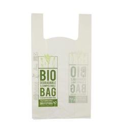 Bioplastic t-shirt bag L