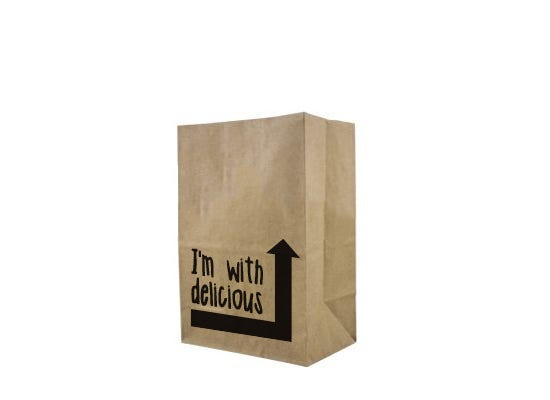 Paper block bottom bag M - Vincent Vegan