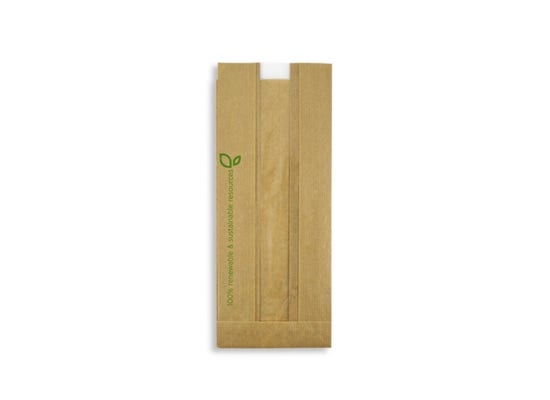 FSC® paper sandwich bag with PLA window