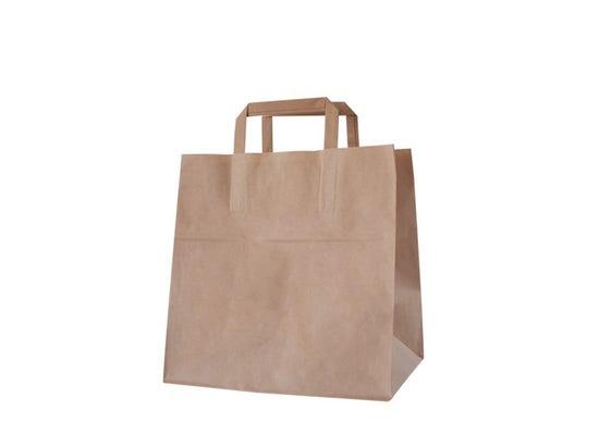 Kraft carrier bag take away