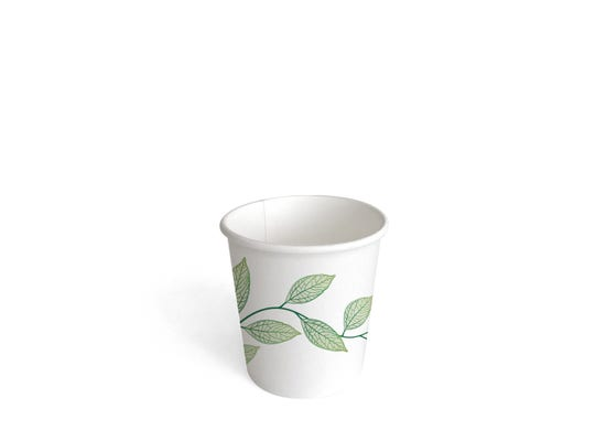 Paper Coffee Cup 4 oz / 100 ml - Green Leaves