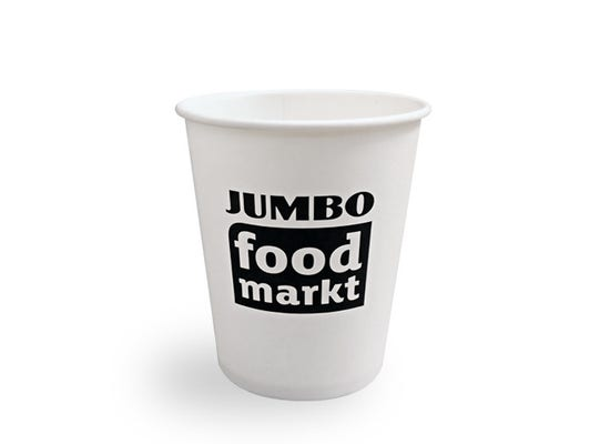 Koffiebeker 210 ml wit - JUMBO