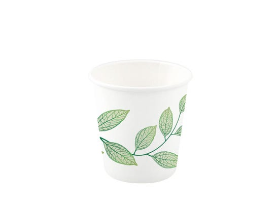Paper Coffee Cup 10 oz / 300 ml - Green Leaves