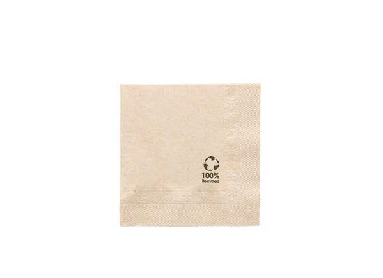 FSC® Cocktail napkins 2-ply 10 x 10 cm unbleached